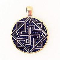 Amuleto Colgante De Valquiria Talismán Protección Encanto De Bronce Antiguo Pagana Joyería