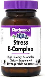 Bluebonnet Nutrition Stress B Complex Vegetable Capsules, Vitamin B6, B12, Biotin, Folate, Stress Relief, Vegan, Vegetaria...