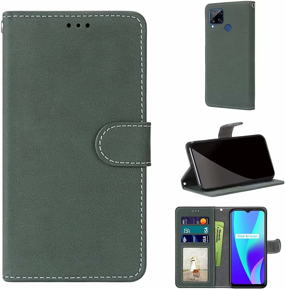 ZXL Compatible with Oppo Realme C15 Free Shipping depot Cheap Bargain Gift Style Book Wallet Case Le PU