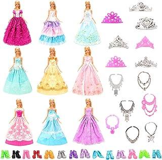 6 Ketten 6 Krone Miunana 2 Bekleidung Kleider 10 Schuhe Kleidung f/ür 11,5 Zoll M/ädchen Puppen