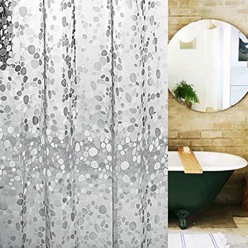 Rideaux de douche Rideau de douche PEVA Cobblestone rideaux de douche pour envoyer crochet en métal imperméable à l'eau et moisissure transparente rideau de douche Rideaux de douche de haute qualité