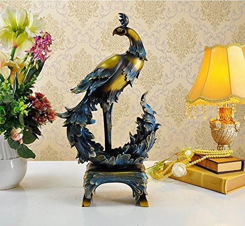 Ornements de Phoenix pour promouvoir la Richesse Cadeaux de Mariage Décorations pour la Maison (Couleur : Imitation Bronze)
