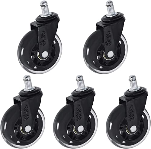 high quality Office high quality Chair Caster Rubber Swivel 2021 Wheels Replacement Heavy Duty 3 inch 5pcs online sale