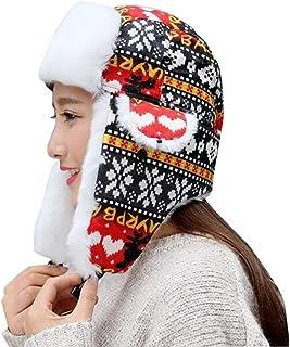 Unisex Aviador Gorra Hombres Mujeres Patrón De Navidad Trapper Cálido Basic Moda Esquí con Orejeras Sombrero De Piel Sintética Ropa