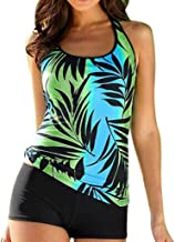 Tankinis Swimwear for Women Ladies Bikini Set Swimsuit Push up Vest top with Shorts Vintage Teens 2 Piece