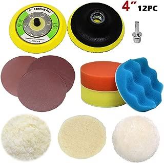 Lion Tools PTH002 Toolman Adapter Drill polishing Plate Sanding Buffing Woolen Sponge pad 12pc 4