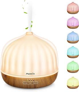 Maxcio Aroma Diffuser 500ml LED Luchtbevochtiger Ultrasone etherische olie Diffuser met 7 kleuren geurlamp, vernevelaar Lu...