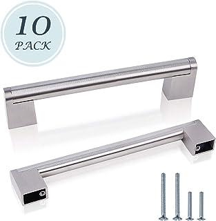 manijas para puerta de cocina LONTAN LS201BSS 5 unidades Mangos de barra de acero cepillado plateado