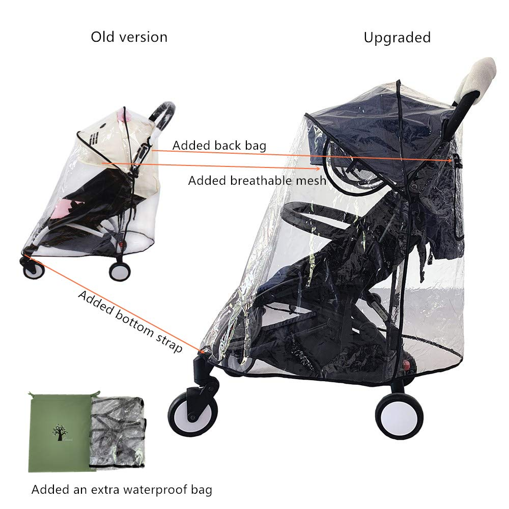 Universal Baby Stroller Rain Cover,Waterproof Wind Dust Shield Cover for Single Stroller, Weather Shield Stroller for Baby Rain Protection