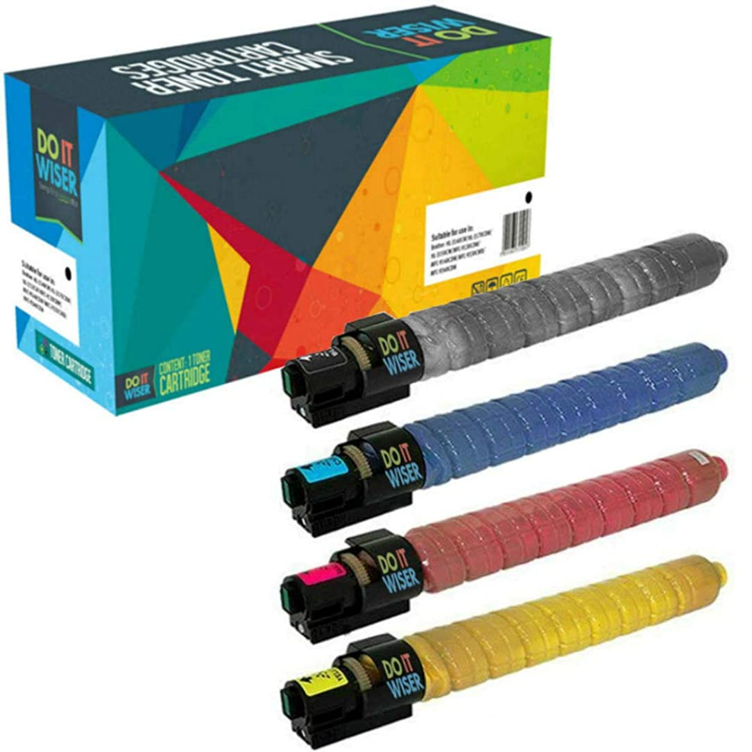 Do it Wiser Compatible Toner Cartridge for Ricoh Aficio SP C820dn SP C821dn SPC820 SPC821dn - 821026 821027 821028 821029 (Black Cyan Magenta Yellow, 4-Pack)