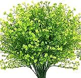 Ruiuzioong Flores Arbustos Artificiales Plantas Flores Exteriores Resistentes a Rayos UV Arbustos Artificiales Decorativos para Decoración de Arreglo Floral, Centro de Mesa (4 Pcs,Green)