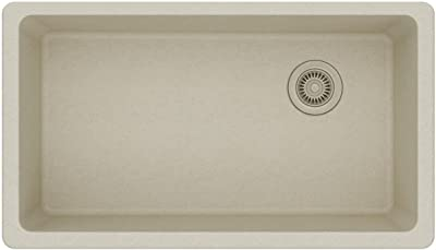 Elkay Quartz Classic ELGU13322BQ0 Bisque Single Bowl Undermount Sink