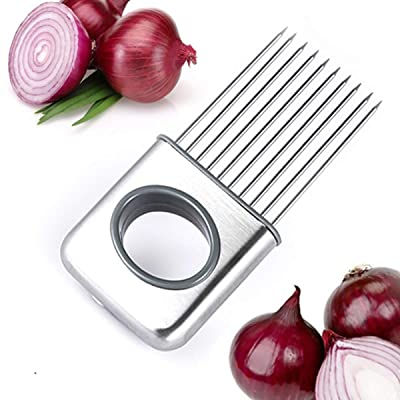 YIJIA Onion Holder For Slicing, Stainless Steel...