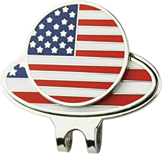 PINMEI USA Eagle Magnetic Golf Ball Markers with America Flag Golf Cap Clip - Perfect Golf Gift for Men