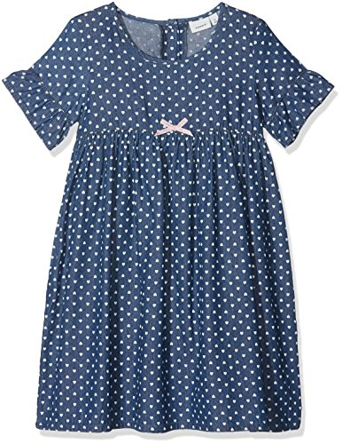 Name It Nmfberna DNM 3027 Dress Robe, Bleu Dark Blue Denim, 92 Bébé Fille