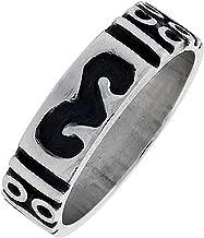 Sterling Silver Ram's Head Ring Southwestern Design Handmade 1/4 inch wide