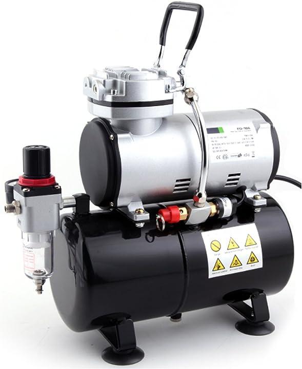 Compressore aerografo per modellismo con cassa d'aria original fengda fd186 - professionale AS-186