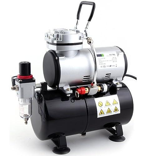 Compresor de aerógrafo Fengda FD-186 con calderín / ORIGINAL FENGDA / regulador de presión