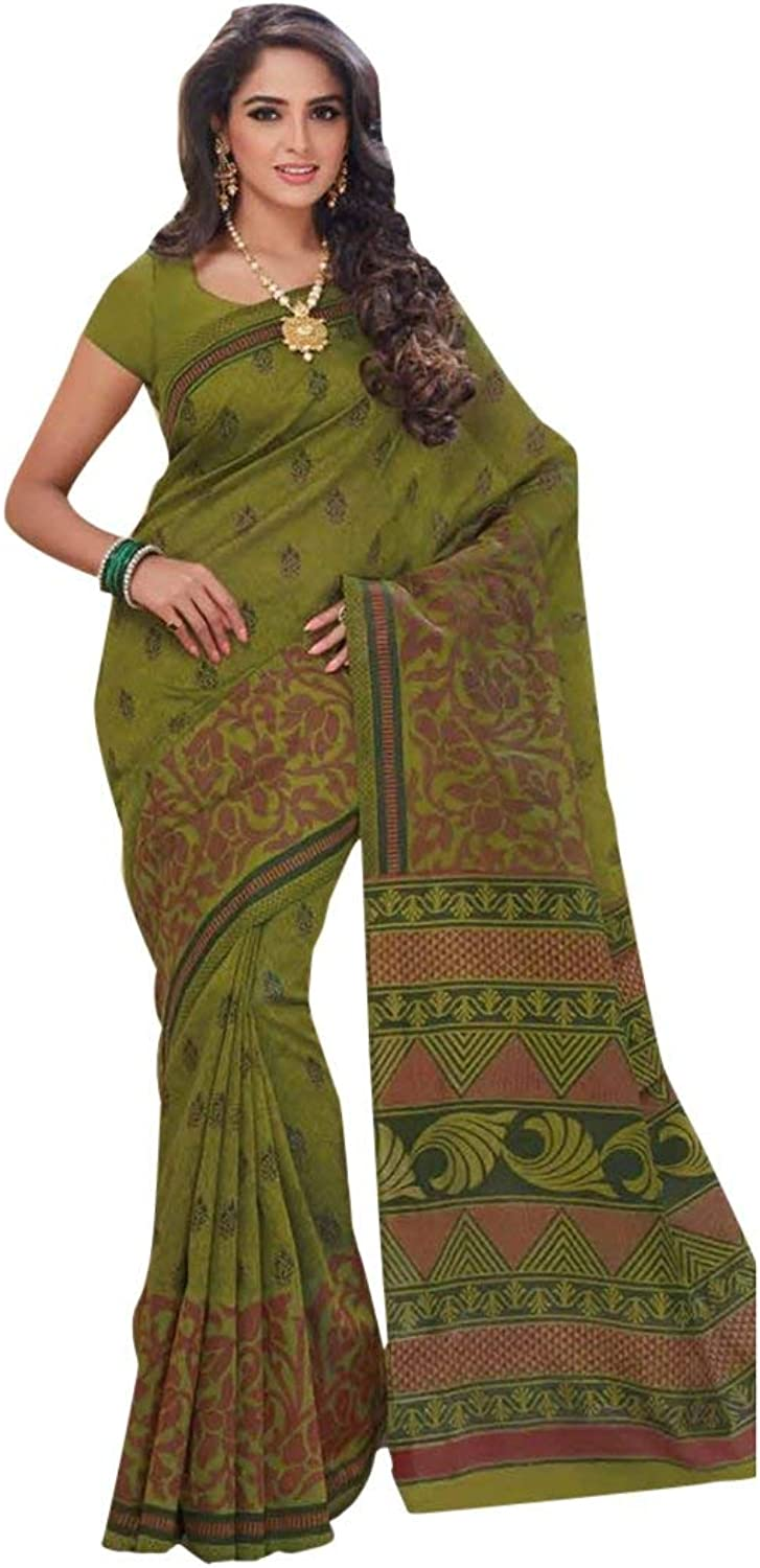Cotton Bollywood Bridal Saree Sari for Women Collection Blouse Wedding Party Wear Ceremony 829 3