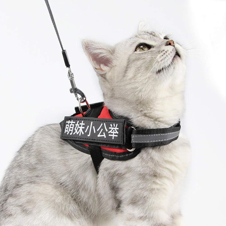 ventas en linea Pet Leash1 [Send TrAcción Canned] Cypress Pet Pet Pet Cat Chest Strap To Send TrAcción Rope Us Short Plus Feifei Cat Licking Cat Rope naranja XS- Suitable For 7-15 Kg  punto de venta barato