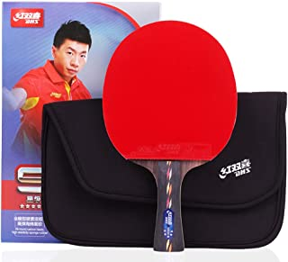 DHS Ping Pong Paddle R5002C Raqueta Table Tenis Racket Shakehand with Landson Protector