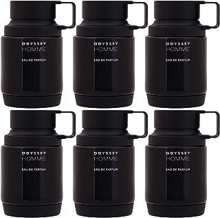 Armaf Perfumes - Odyssey Homme Men by Armaf Black Edition - Eau De Parfum 100ML Pack Of 6 - Amber Fragrance For Him
