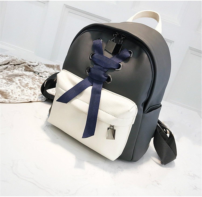Leng QL Personality Backpacks Fashionable Student Rucksack Schoolbag Street Traveling Backpack(Grey)