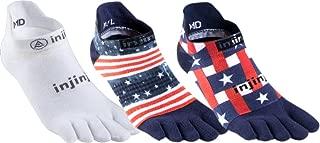 Run 2.0 Lightweight No-Show Toe Socks