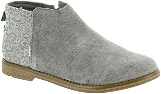 TOMS Youth Deia Boot Shade Suede/Cheetah 4 M