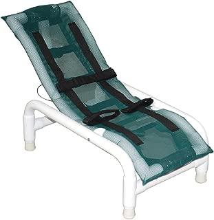 MJM International 191-S Reclining Bath Chair Small, Royal Blue/Forest Green/Mauve