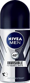 NIVEA MEN Black & White Invisible Anti-Perspirant Deodorant, 50ml