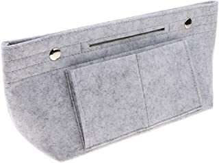 F Fityle Felt Insert Purse Organizer Handbag Liner Insert Cosmetic Bag Travel Bag