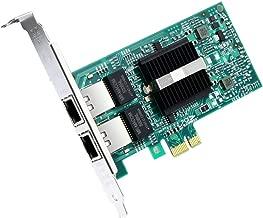 ipolex for Intel 82576 Chipest (E1G42ET) Gigabit Ethernet Dual RJ45 Copper Port Server Adapter, PCI Express 2.0 X1