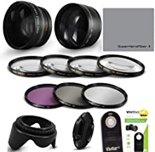 55MM HD 4K 8K Wide Angle FISHEYE Lens + Macro Attachment Lens + 2.2X TELEPHOTO Zoom Lens +IR Remote Shutter Control + Closeup Macro Lens KIT+ HD Filter KIT for Nikon D3400 D3500 D5600