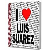 Cuaderno A5 con bloc de notas I Love Luis Suarez