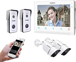 """TMEZON HD 720P 10"""" IP WIFI Wireless Video Doorbell Intercom System Door Phone Montion Detection Entry System with CCTV Cam..."""