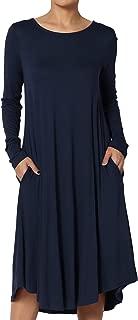 S~3X Short Sleeve Viscose Jersey A-line Midi Long Dress W/Pockets