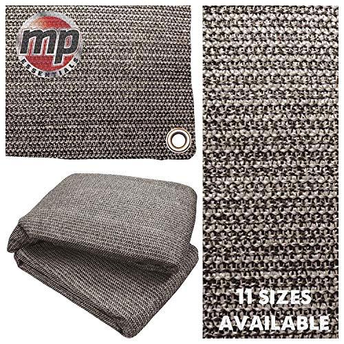 MP Essentials Bodenplane für den Außenbereich, umweltfreundlich, atmungsaktiv und wetterfest, Anthrazit und Grau, Anthracite & Grey, 2.5 x 3m