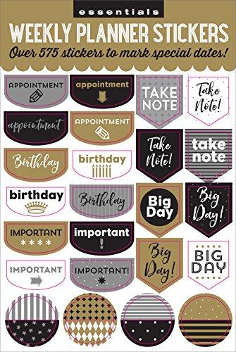 Essentials Weekly Planner Stickers-Black  New York