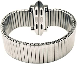 Strechy Elastic Expansion Band for Apple 38mm/40mm 42mm/44mm Expansion Wide Stainless Steel Metal Watch Band Metal Watch Band Stainless Steel Classic Expansion 6 5/8 to 12 Inch Length