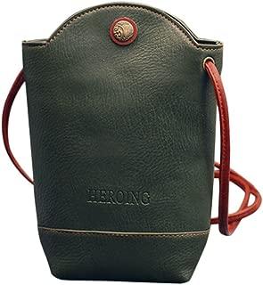 Women Bags Women Messenger Bags Slim Crossbody Shoulder Bags Handbag Small Body Bags Crossbody Shoulder Bags Mobile Phone Package (Green)