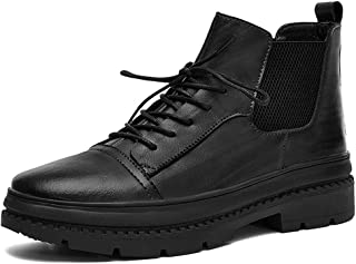 Men's Classic Ankle Boots Casual Work Lace Up Stylish And Comfort PU Winter Shoes