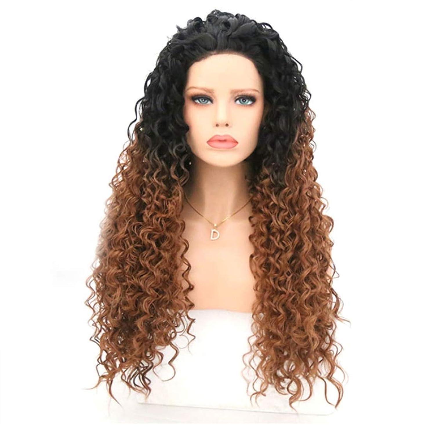科学者論争の的入場Summerys 波状の巻き毛のかつら女性のための耐熱性巻き毛のかつら (Size : 16 inches)