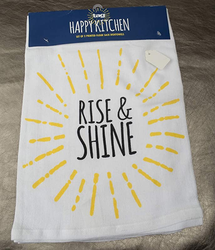 Tag Dish Towel Set 1 Each Rise Shine My Kitchen Is For Dancing