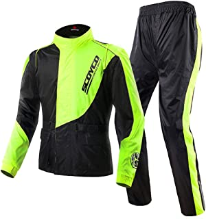 Scoyco RC01 Motorcycle Racing Waterproof Jacket Pants Set Rain Suit (L)