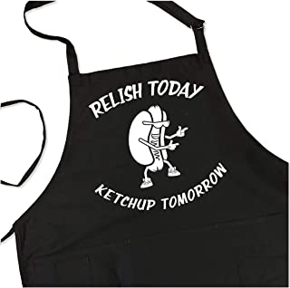 Relish Today Ketchup Tomorrow Apron - Men's BBQ Grill Apron - 1 Size fits All