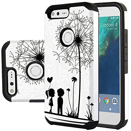 Harryshell Google Pixel Case, (TM) Shock Absorption Drop Protection Hybrid Dual Layer Armor Defender Protective Case Cover for Google Pixel (C-2)