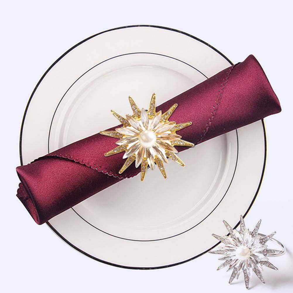 Servilleteros De Mesa De Anillo De Metal Duradero Reutilizable Decoraci/ón Servilletas para Bodas Cenas Navidad Fiestas Acci/ón De Gracias Etc