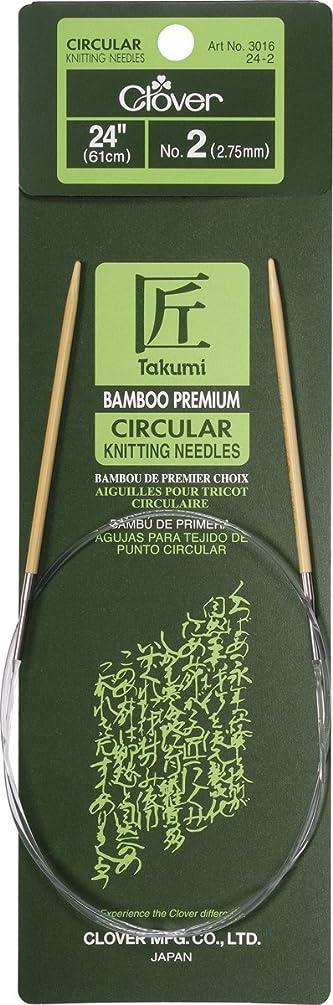 Clover Bamboo Circular Knitting Needles Takumi, 24-Inch Size 2