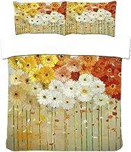Duvet Cover Set 3D Print Nordic Abstract Oil Painting Flower Effect Quilt Bedding Set Queen 220X240Cm
